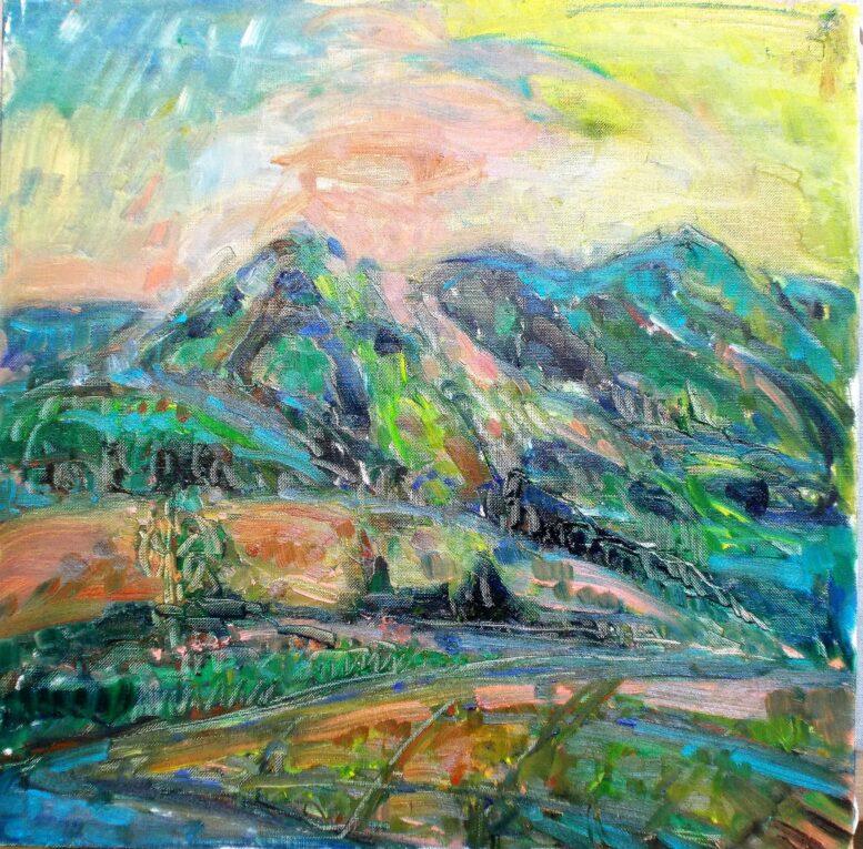 セザンヌと風景画の油絵の描き方