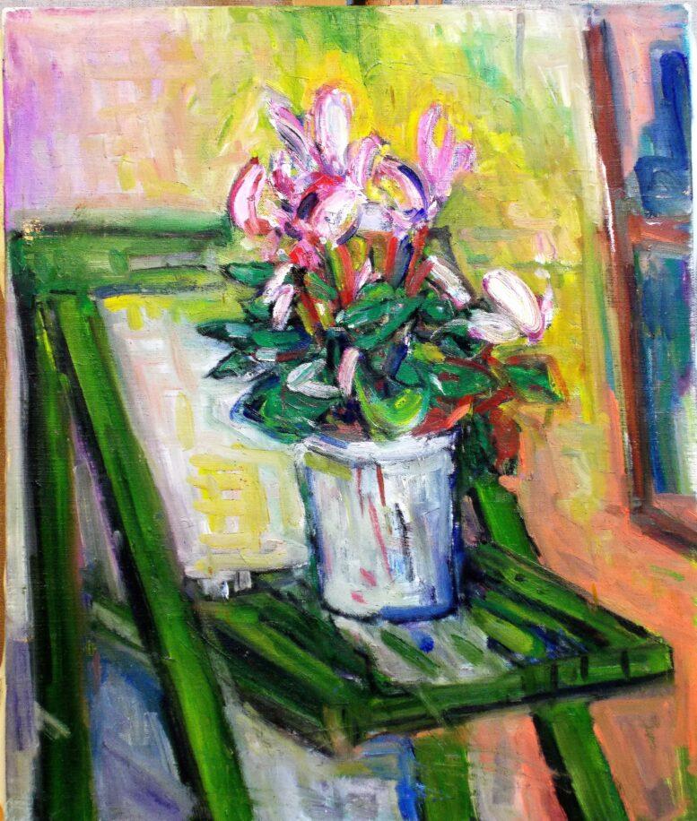 中川、ボナール好きです 油絵制作 花を描くときは、