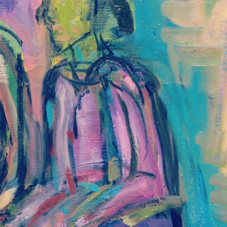 音楽とアンソールを考える 油絵制作