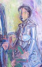 北方系絵画 今日は嵐、部屋で絵を描くのがいいですね。