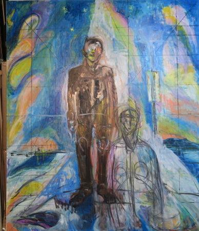 バルテュス氏のメトロポリタン美術館での騒動 油絵制作Bの①