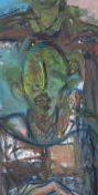 モジリアニの絵画 イタリアの伊達男、 駅員のいる群像④