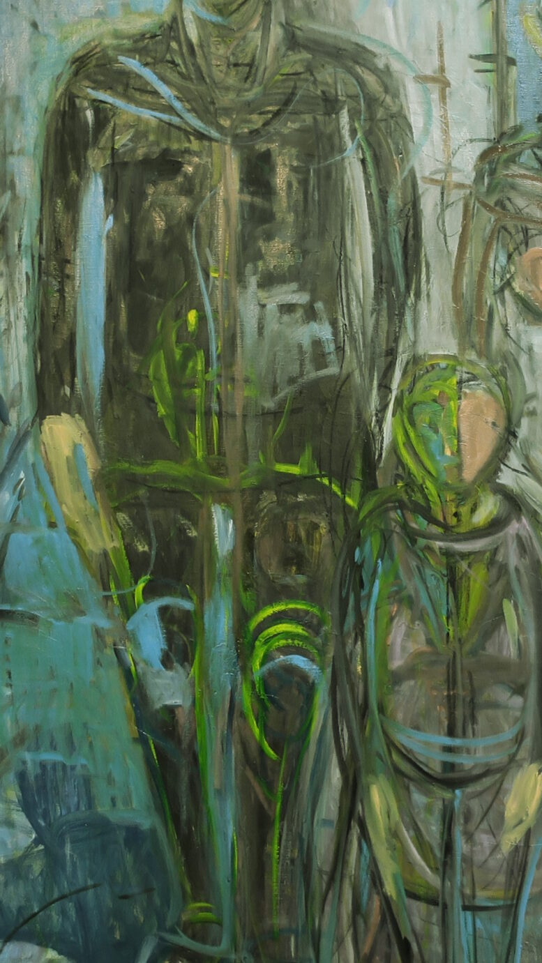 キルヒナーとドイツ表現主義 橋と街 油絵制作Bの④