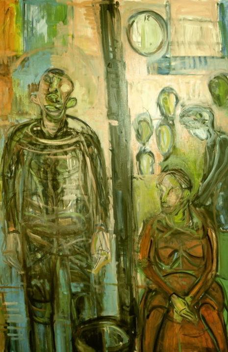ボナールのマッス問題 駅員のいる群像⑥ 絵画の表現