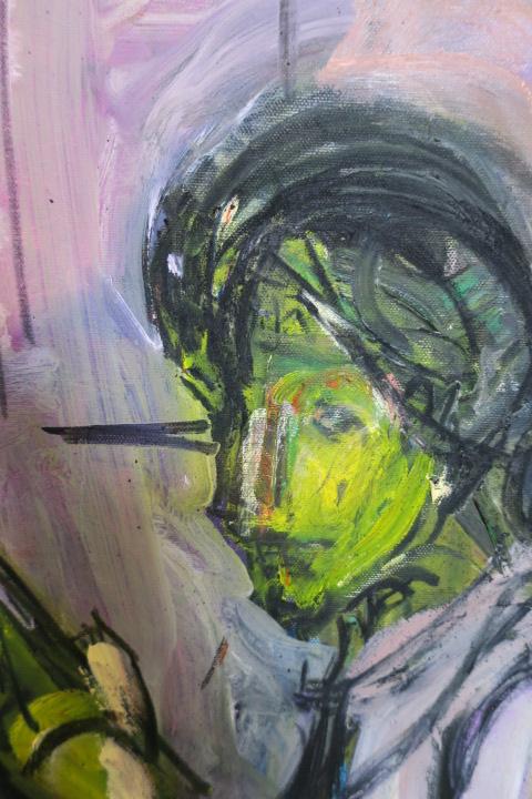 人物画を描く モジリアニと瞳のない絵