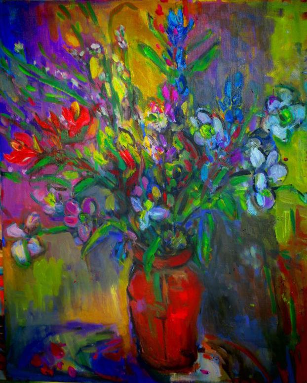 ブドウのつぶつぶと 古風な色と 秋の静物と